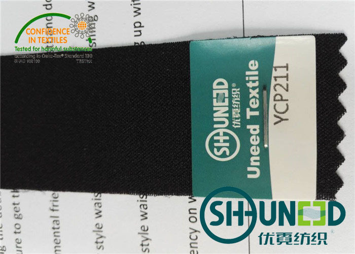 Plain Weave Big Elasticity Waistband Interlining Material For Pants Waist