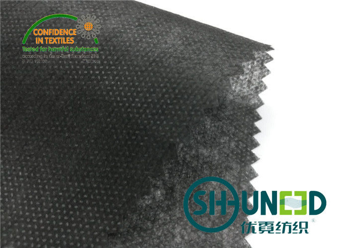 Black Non Woven Polypropylene Fabric Nonwoven Technic For Bag / Garment