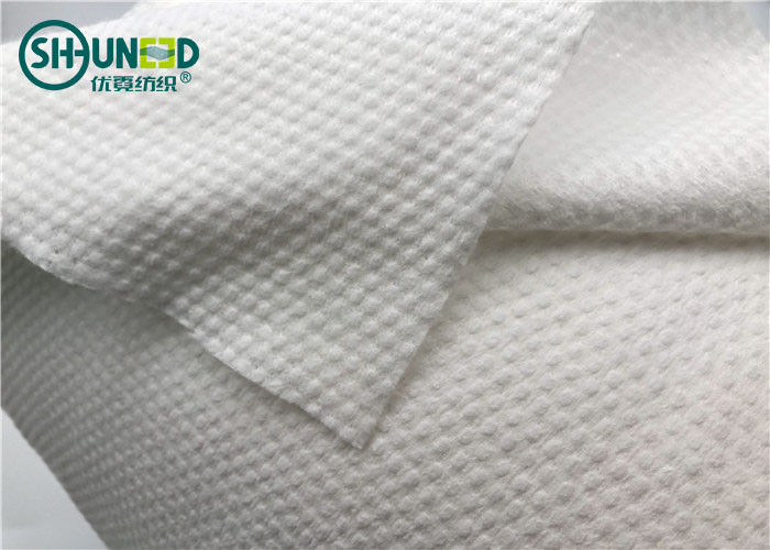 Embossed Biodegradable Spunlace Non Woven Fabric 100% Viscose For Wet Wipes